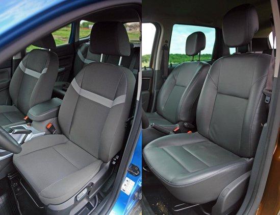 Scaunele din Ford Kuga sunt mai confortabile, dar si cam tari, in stil germanic