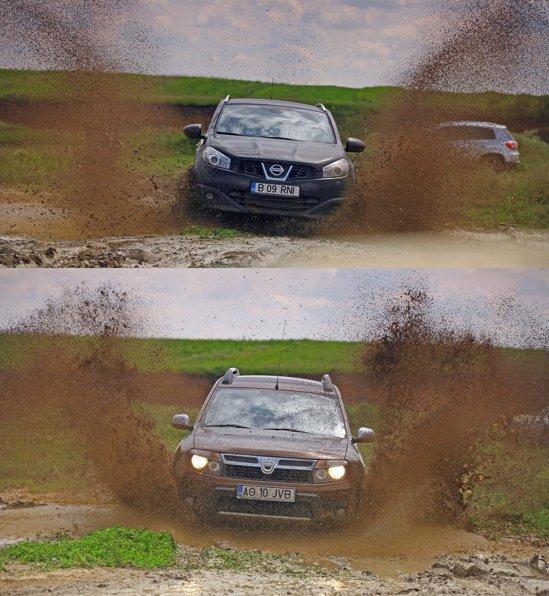 Nissan Qashqai se descurca surprinzator de bine pe teren accidentat