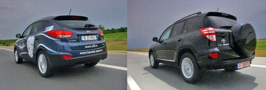 Toyota RAV4 e mai zgomotos la viteza mare, dar consumul mediu e mai redus