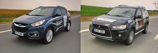 Hyundai ix35 are 30 CP in plus, dar Outlander este ceva mai sportiv si mai fun de manevrat