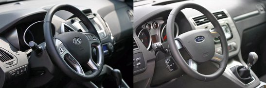 Hundai ix35 are un interior mai reusit in primul rand ca design, dar si ca ergonomie