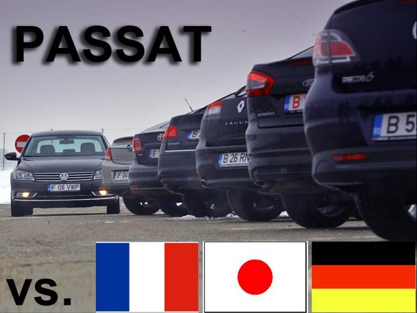 Rivalitate VW Passat vs. Franţa, Japonia, Germania