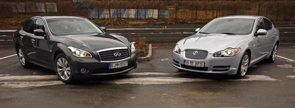Infiniti M30d si Jaguar XF D S sunt alernative pentru Audi A6, BMW Seria 5 sau Mercedes-Benz E-Class