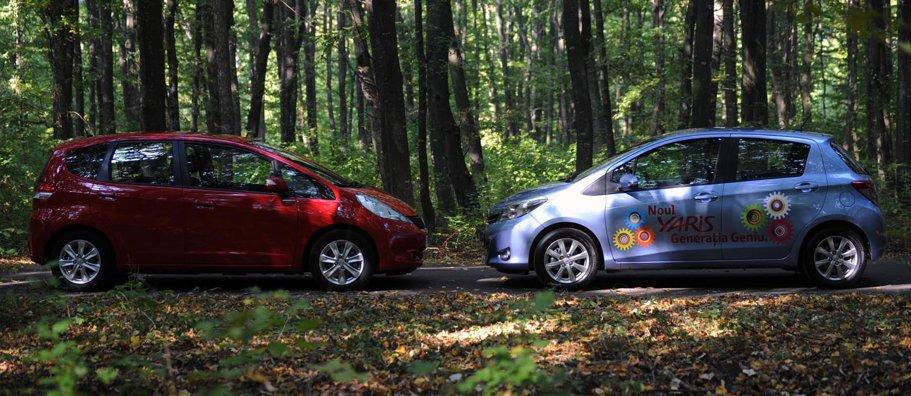 Pui de samurai: Toyota Yaris 1.3 VVTi vs. Honda Jazz 1.4 i-VTEC