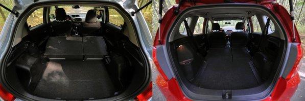 Honda Jazz ofera un portbagaj mai mare decat Toyota Yaris