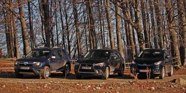 Trei dintre cele mai ieftine oferte de SUV-uri: Dacia Duster, Mitsubishi ASX, Hyundai ix35
