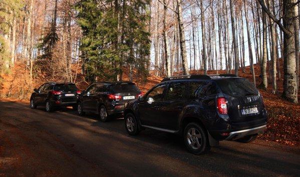 Dacia Duster are un foarte bun raport pret/spatiu. ASX si ix35 ofera multe optiuni de lux