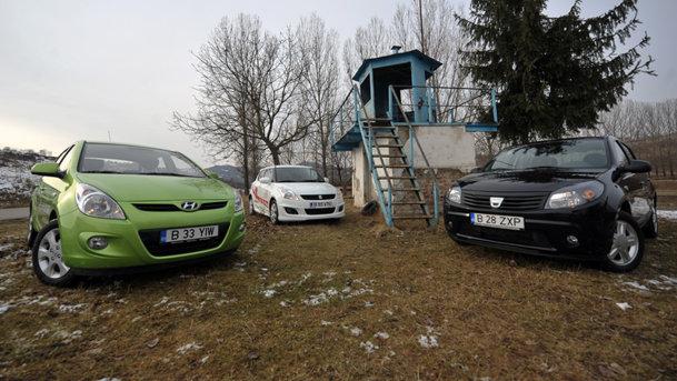 Gâlceava citadină: Dacia Sandero Orange, Suzuki Swift, Hyundai i20