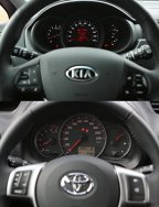 Roşii, mici şi rele: KIA Rio 1.4 DSL vs. Toyota Yaris 1.4 D-4D