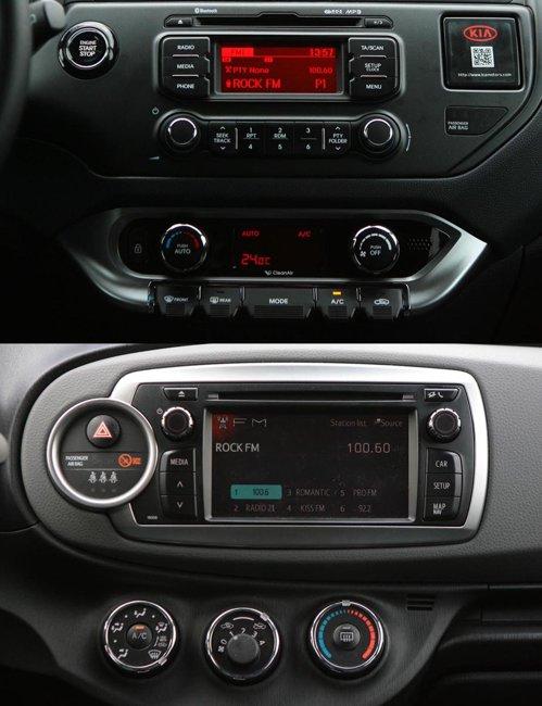 Yaris ofera standard modulul Toyota Touch, cu display tactil si camera pentru mersul inapoi