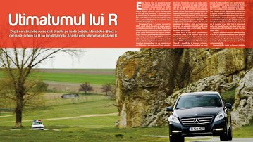 Test lung cu Mercedes-Benz R 350 CDI 4matic