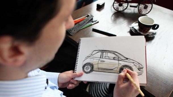 VIDEO: Morning Coffee cu Adrian Mitu, tânărul designer care desenează maşini folosind... cafea