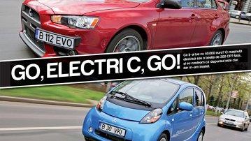 Test-drive în oraş cu Mitsubishi i-MiEV şi EVO 10