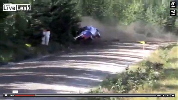 Robert Kubica, crash spectaculos în Raliul Finlandei! VIDEO