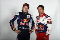 Kimi Raikkonen si Sebastian Loeb