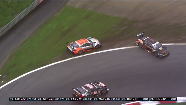 Lovituri sub centură în DTM: cum a scos un pilot Audi din joc doi piloţi Mercedes-Benz