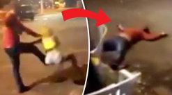 Acest şofer loveşte o femeie dar INSTANT KARMA îi dă replica în secunda doi - VIDEO