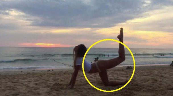 Rusoaica de 24 de ani şi-a arătat incredibila flexibilitate într-o serie de videoclipuri postate pe Instagram - VIDEO