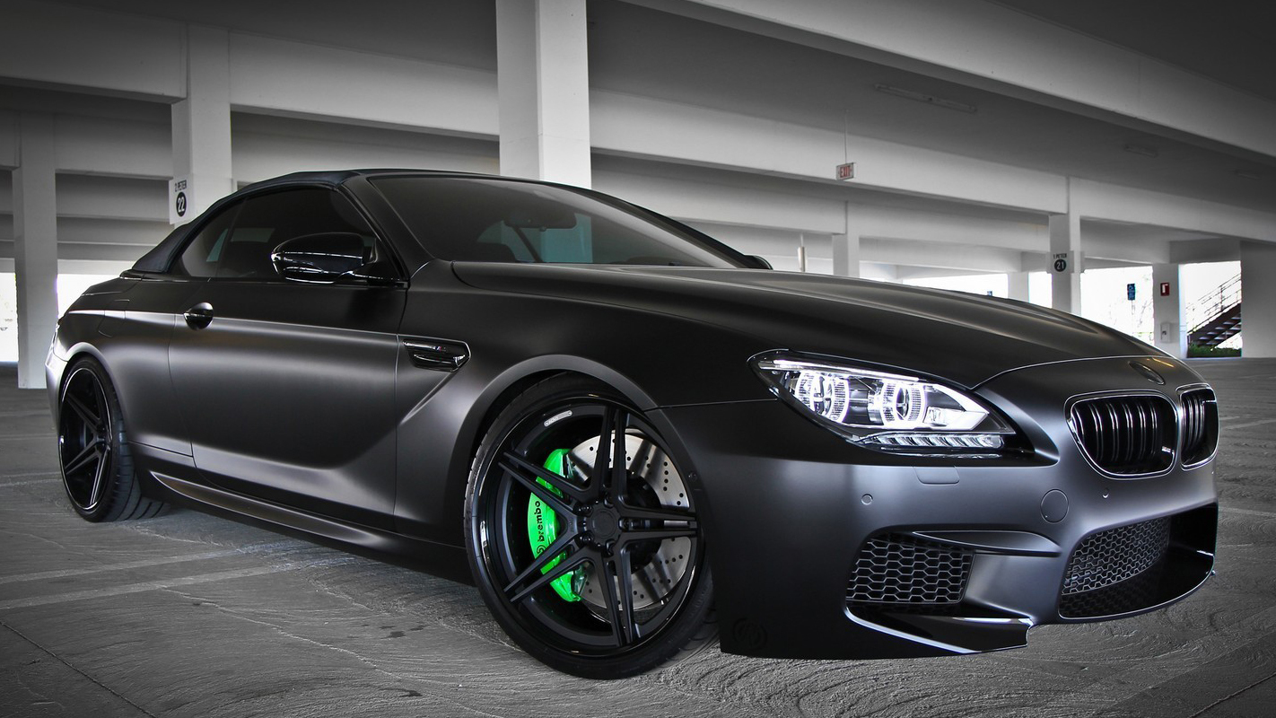 "Tuning: BMW M6 ""învelit"" în negru mat"