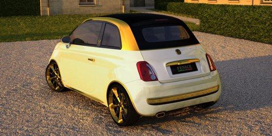 Fiat 500C Fenice Milano este ornat cu aur de 24k si costa 500.000 euro