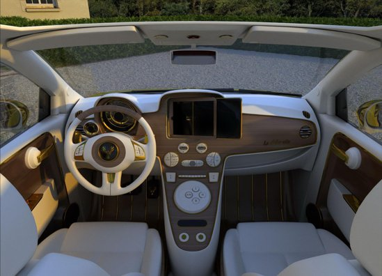 Fiat 500C Fenice Milano are un iPad din aur si diamante