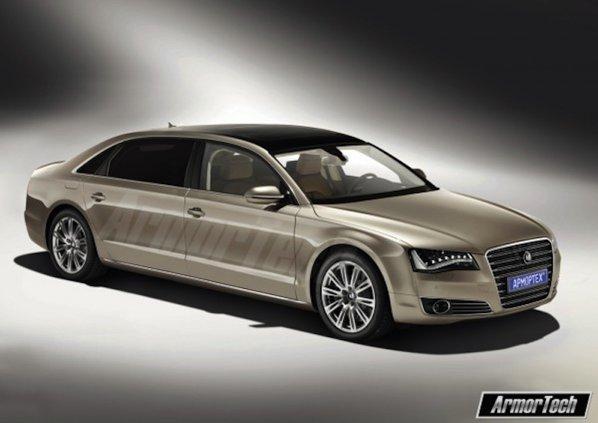 Prima versiune Audi A8 ArmorTech presupune marirea portierelor fata si spate