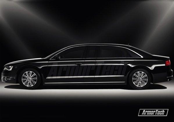 A doua versiune Audi A8 ArmorTech este mai lunga cu 400 mm decat un A8 L Security
