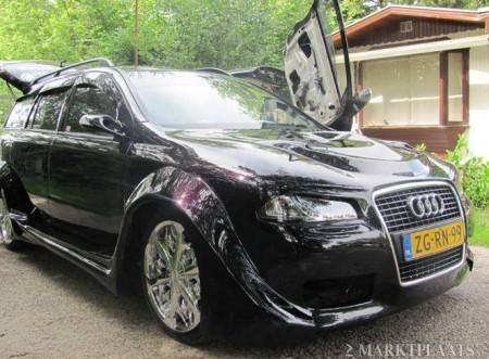 Partea frontala a fost modificata in stil Audi A3