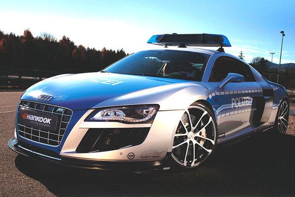 Audi R8 GTR Police Car by ABT face parte din campania TUNE IT SAFE de la Essen Motorshow