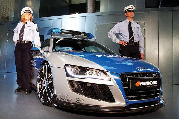 Audi R8 GTR ABT - are doar aspect de masina de politie, nu e destinata fortelor de ordine