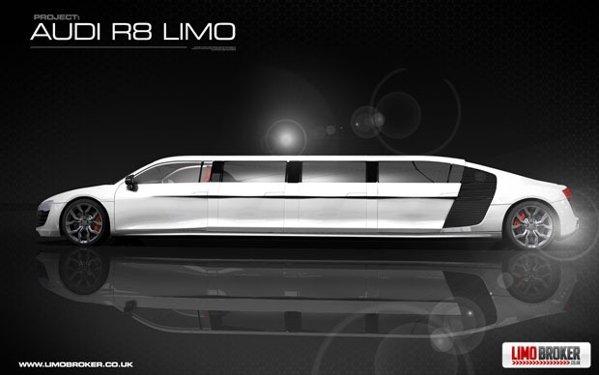 Audi R8 Limo va fi foarte lunga, dar nu stim deocamdata cati metri va masura