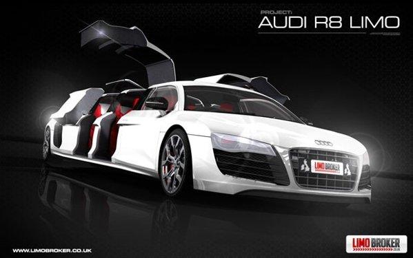 Audi R8 Limo are 8 portiere si 8 locuri sportive