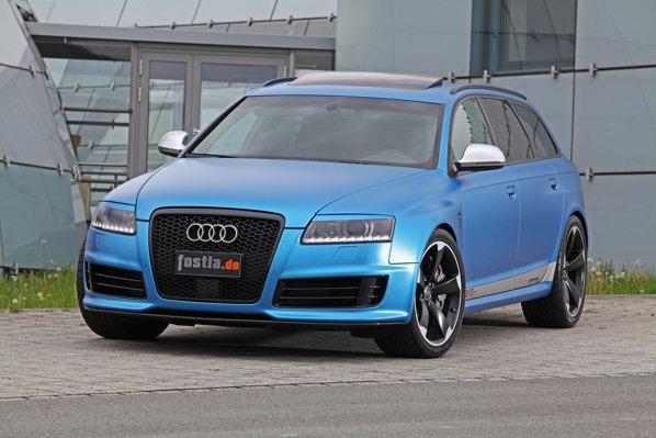 Fostla ofera pentru Audi RS6 Avant MTM o folie speciala light blue pentru 2500 euro