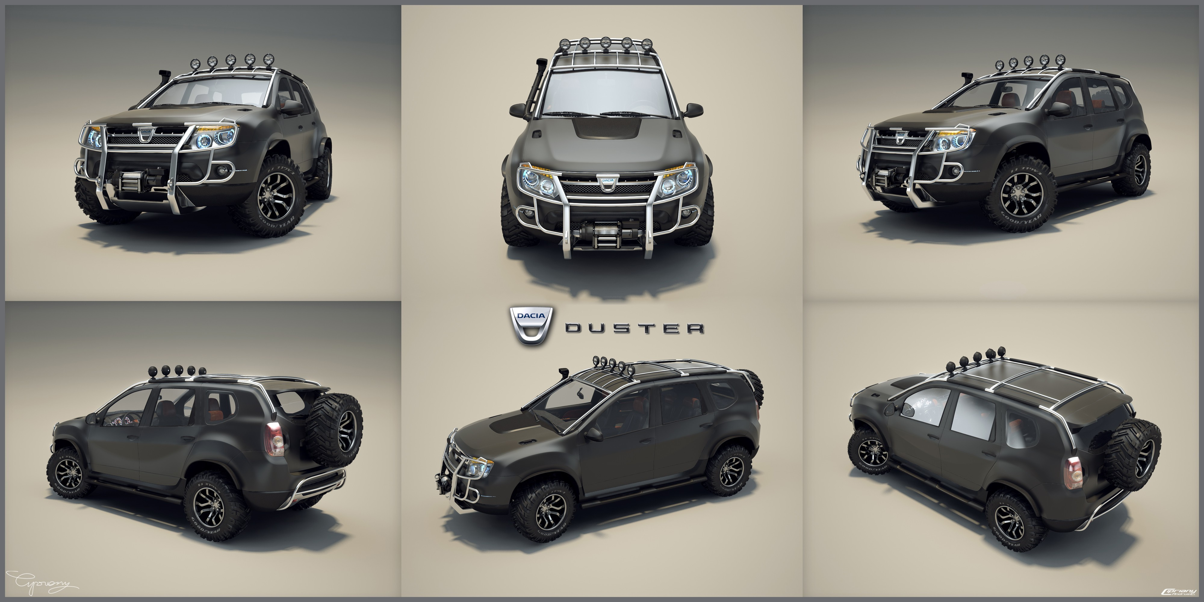 concept dacia duster preparat pentru off road. Black Bedroom Furniture Sets. Home Design Ideas