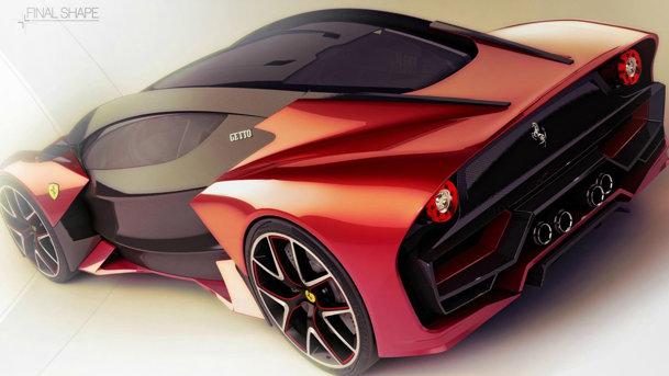 CONCEPT: Ferrari Getto - jumătate supercar, jumătate simulator F1