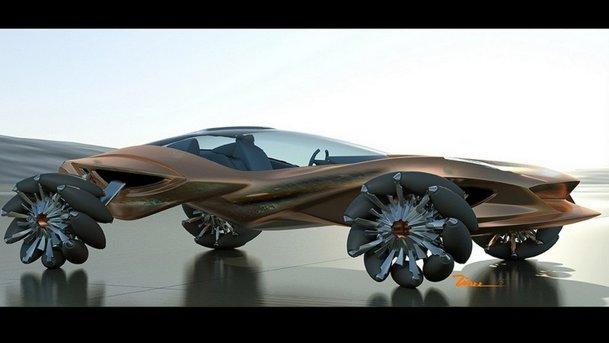 Jaguar Blue Concept este maşina din ciment a anului 2030