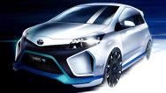Imagine-teaser cu conceptul Toyota Yaris Hybrid-R, de 400 CP