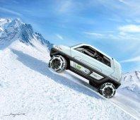 Magna Steyr MILA Alpin Concept - urca pante de 45 grade