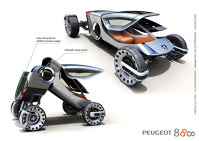 Peugeot 888 - masina rabatabila