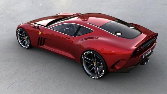 Ferrari 612 GTO are diverse surse de inspiratie, dar ansamblul e omogen si atractiv