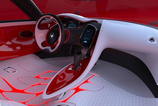Interiorul lui Renault DeZir -