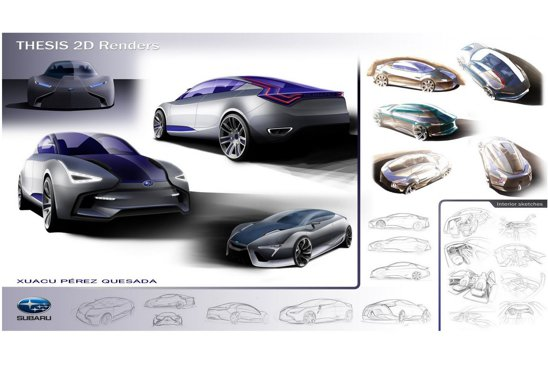 Subaru Celeno este lucrare de master a designerului Xuacu Perez
