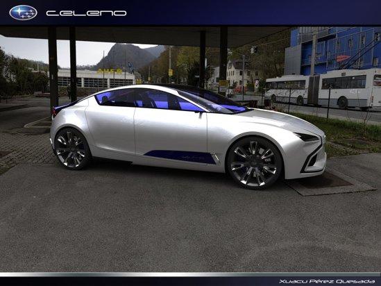 Subaru Celeno, un concept destul de interesant de coupe cu 4 usi