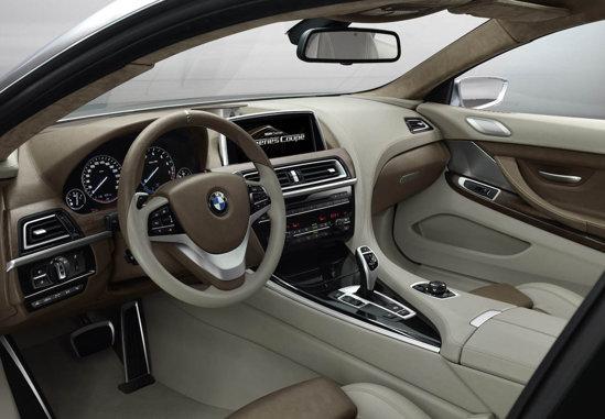 Interiorul lui BMW Seria 6 Concept readuce in actualitate ideea cockpitului separat
