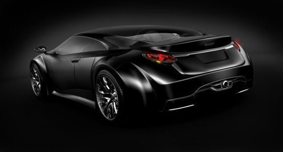 Peugeot Shine Concept are un stil fluid si aerodinamic, fiind un coupe cu 4 usi