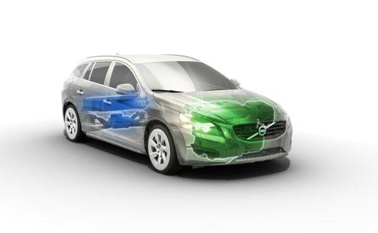 Motor diesel de 2,4 litri si 215 CP pentru rotile fata, respectiv motor electric de 70 CP pentru rotile spate