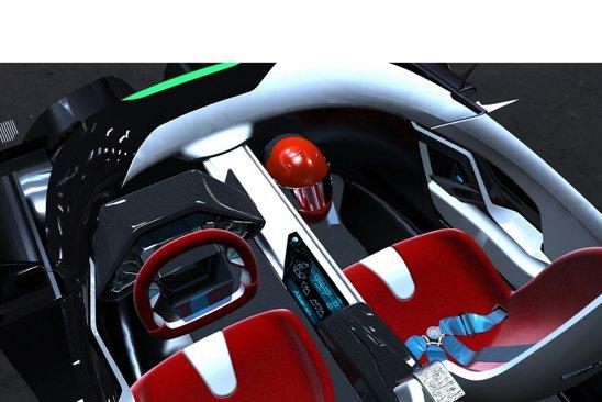 IED Abarth Scorp-Ion are un cockpit futurist, cu afisaj tridimensional
