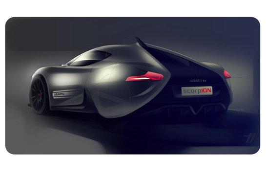 IED Abarth Scorp-Ion este un concept de coupe compact electric, cu 2 locuri