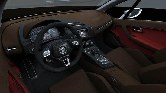 Interiorul lui Volkswagen Tex by Giugiaro are o nota foarte sportiva