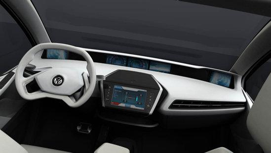 Volkswagen Go Concept ofera un interior foarte spatios si cu o ergonomie foarte buna